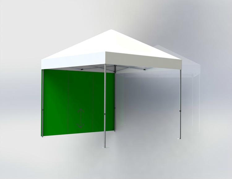 Tältvägg 3 m Grön med dörr