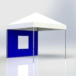 Tältvägg 3 m Blå med fönster