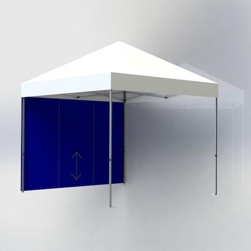 Tältvägg 3 m Blå med dörr