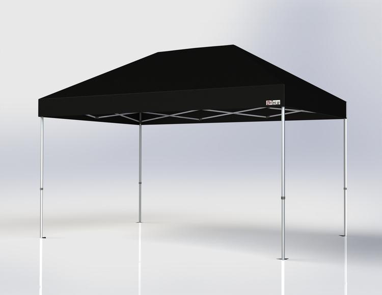 Popup Tält - 3x4,5 m - Svart - Stativ med takduk