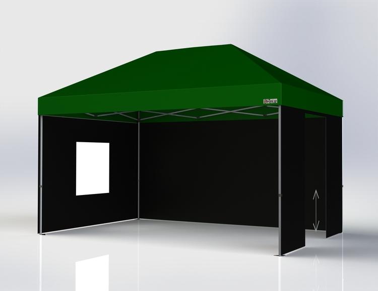 Popup tält - 3x4,5 m - Komplett Tält paket - Grönt Tak