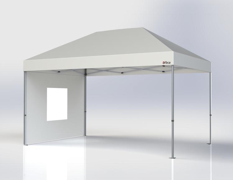 Popup Tält - 3x4,5 m - Vit - Stativ med takduk