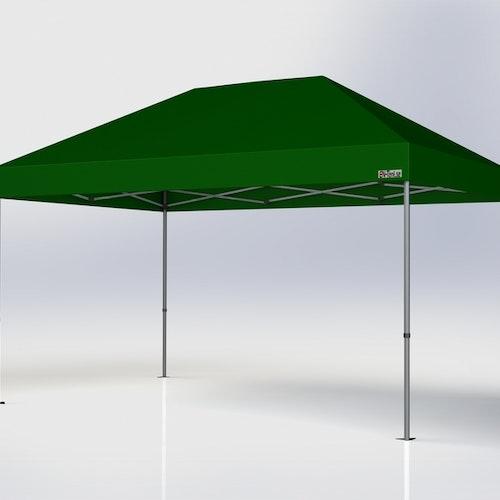 Popup Tält - 3x4,5 m - Grön - Stativ med takduk