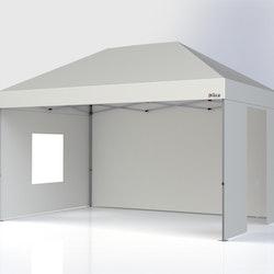 Popup tält - 3x4,5 m - Komplett Tält paket - Vitt Tak