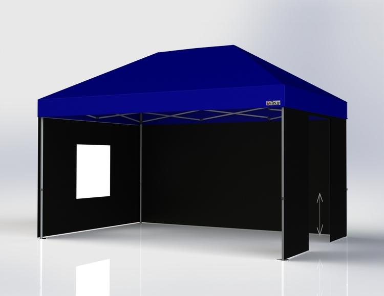 Popup tält - 3x4,5 m - Komplett Tält paket - Blått Tak