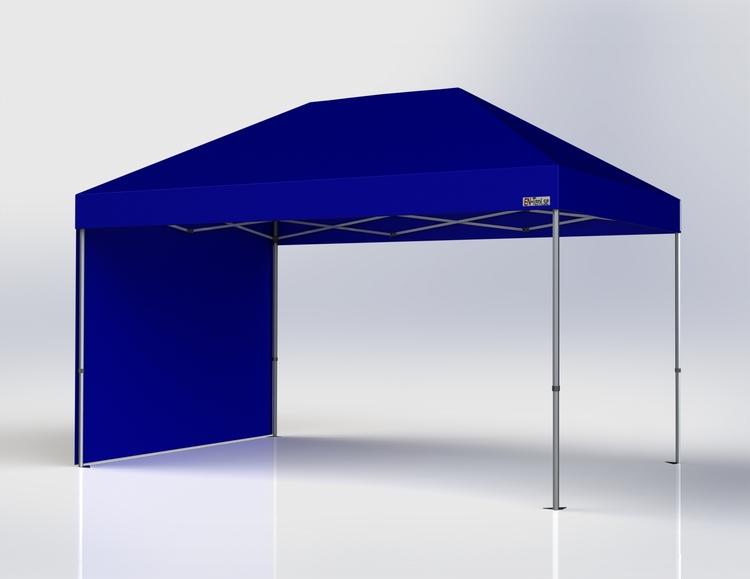 Popup Tält - 3x4,5 m - Blå - Stativ med takduk
