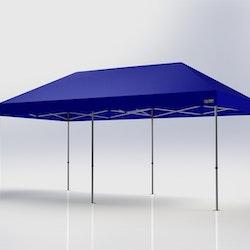 Popup Tält - 3x6 m - Blå - Stativ med takduk