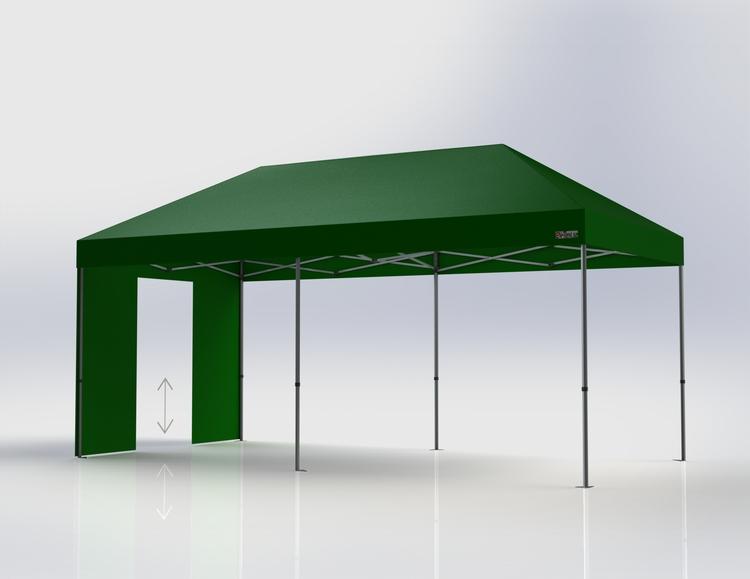 Popup Tält - 3x6 m - Grön - Stativ med takduk