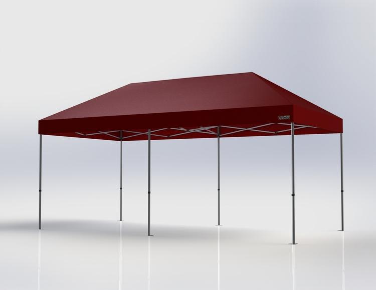Popup Tält - 3x6 m - Röd - Stativ med takduk