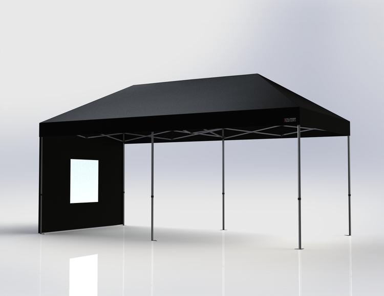 Popup Tält - 3x6 m - Svart - Stativ med takduk