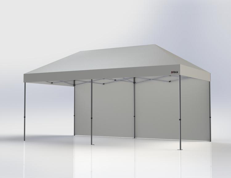 Popup Tält - 3x6 m - Vit - Stativ med takduk