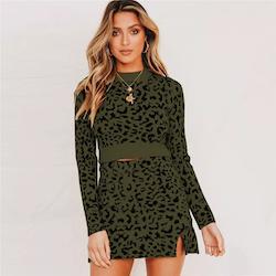 Elsa sweater leopard 2 set