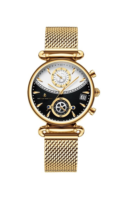 Céline svart med guld armband