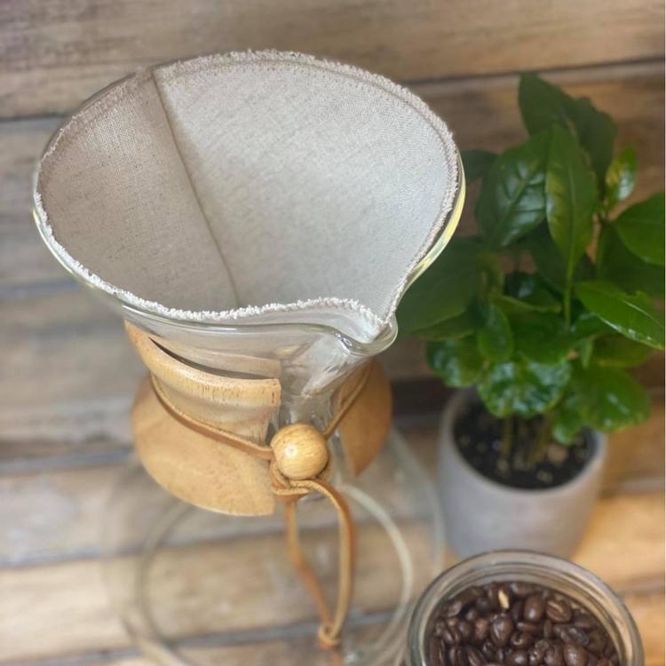 Återanvändbart kaffefilter i tyg Dalahäst / Kurbits