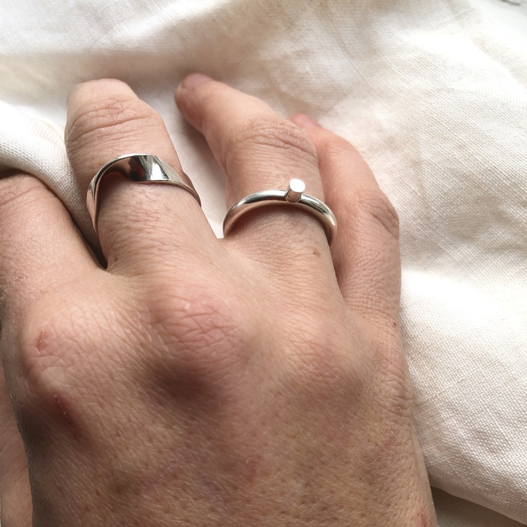 Thick ring with stump • Tjock ring med stump