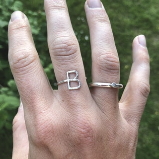 Letter ring • Bokstavsring