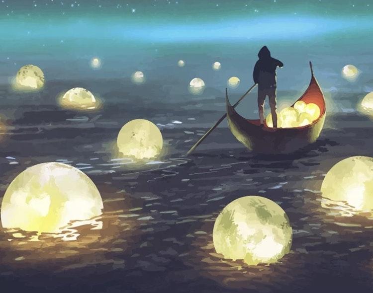 Ljusplaneter i sjö