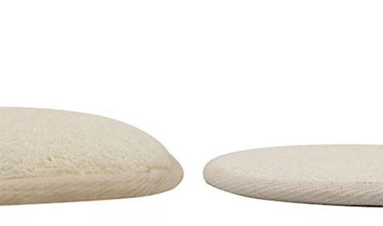 Exfolierande Loofah Pads för kroppsrengöring, 100 % naturligt material