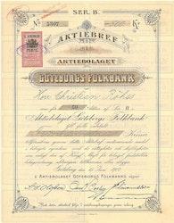 Göteborgs Folkbank, AB, 1894