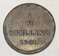 Kopia *Gustav IV Adolf, 1/2 Skilling 1801