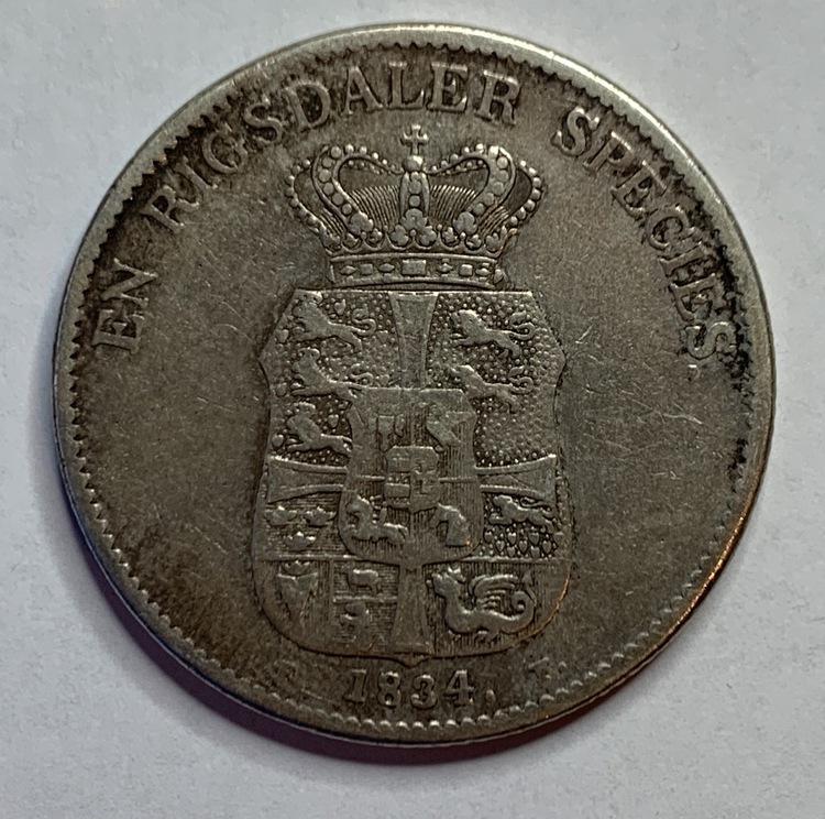 Christian III, 1 Speciedaler 1834