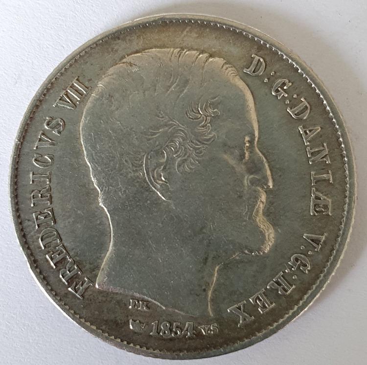 Frederik VII, 1/2 Rigsdaler 1854