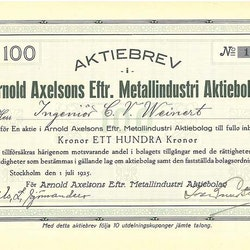 Arnold Axelsons Eftr. Metallindustri AB