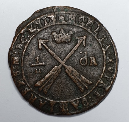 Gustav II Adolf 1/2 Öre 1629 Säter