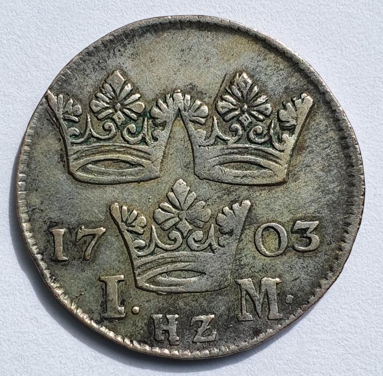 Karl XII 1 Mark 1703