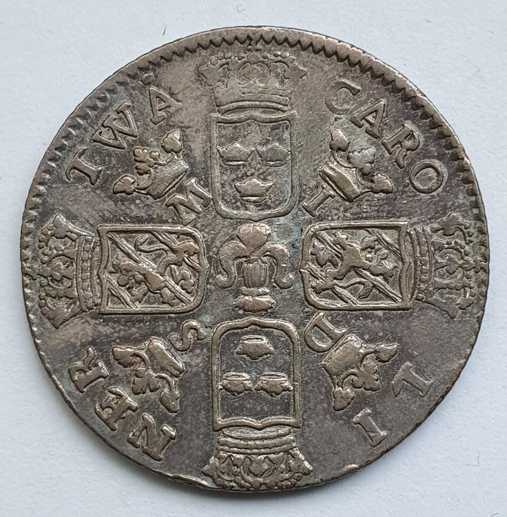 Karl XII 2 Caroliner / 1 Daler Silvermynt 1718