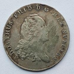 Adolf Fredrik 1 Daler Silvermynt 1770