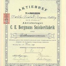 Bergmans Snickerifabriker, AB  C.E.