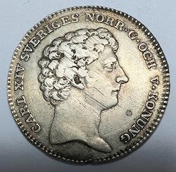 Karl XIV Johan, 1/6 Riksdaler 1819