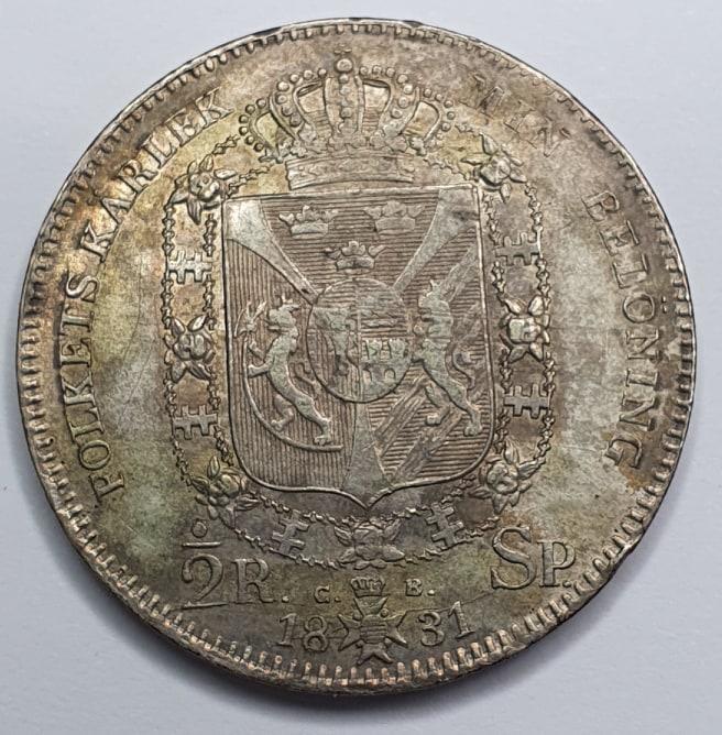 Karl XIV Johan 1/2 Riksdaler Specie 1831