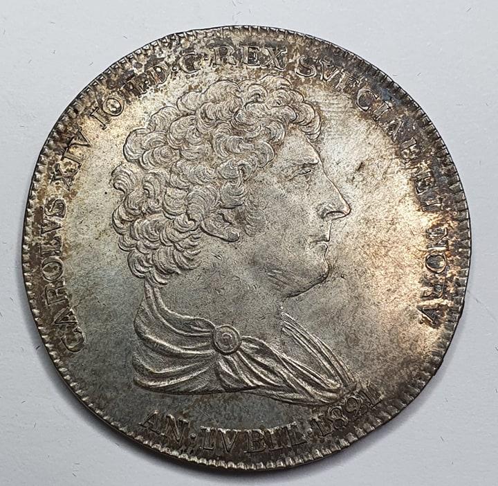 Karl XIV Johan Riksdaler 1821