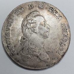 Gustav III 1 Riksdaler 1775