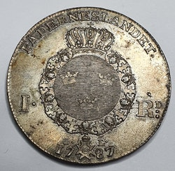 Gustav III 1 Riksdaler 1787