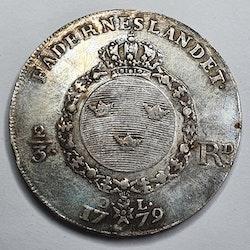Gustav III 2/3 Riksdaler 1779