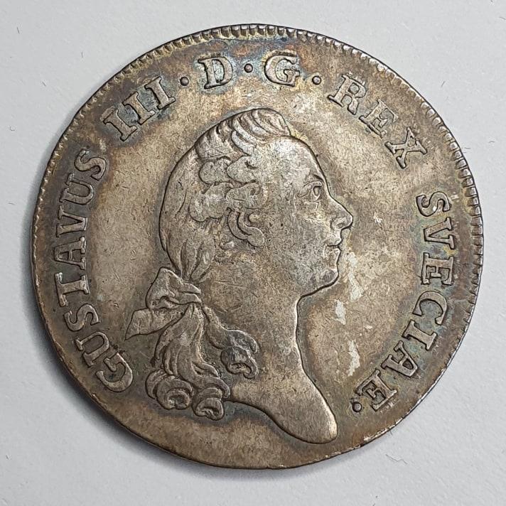 Gustav III 1/3 Riksdaler 1777