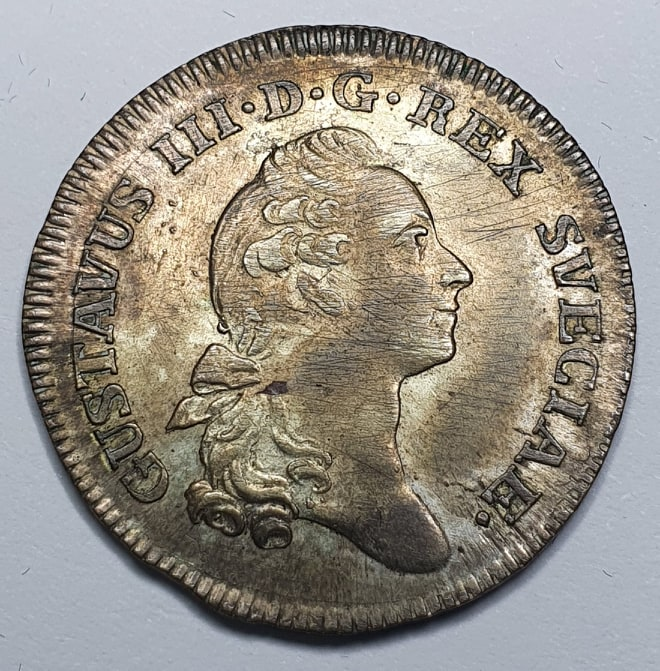 Gustav III 1/6 Riksdaler 1786
