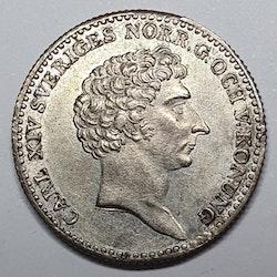 Karl XIV Johan 1/6 Riksdaler 1829