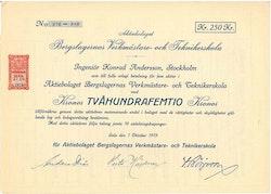 Bergslagernas Verkmästare och Teknikerskola