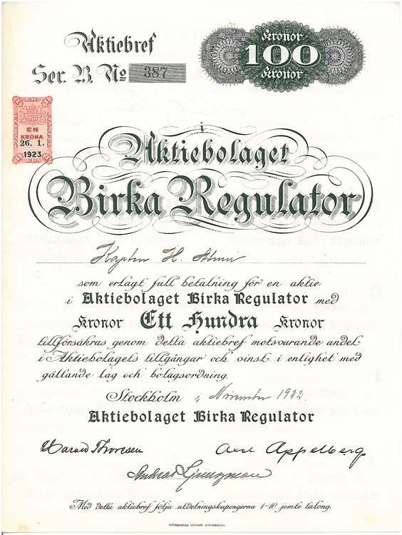 Birka Regulator AB