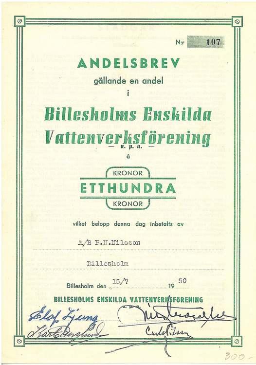 Billesholms Enskilda Vattenverksförening u.p.a