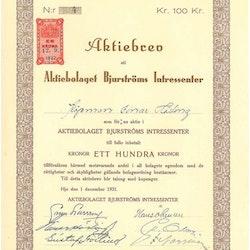 Bjurströms Intressenter AB