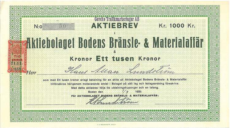 Bodens Bränsle- & Materialaffär, AB