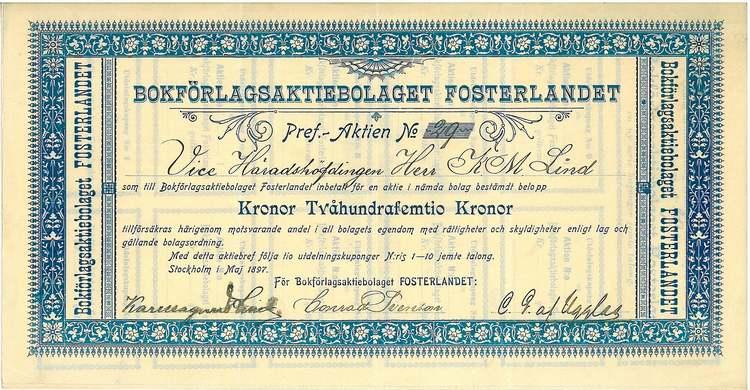 Bokförlaget Fosterland AB