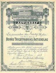 Borås Tricotfabriks AB, 1896