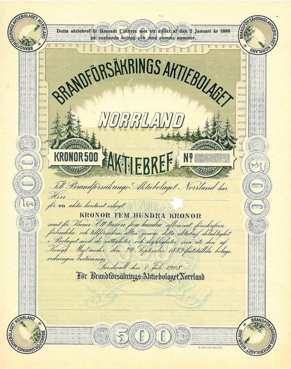 Brandförsäkrings AB Norrland, 1908