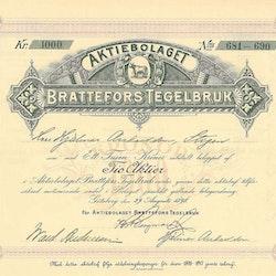 Brattefors Tegelbruk AB, 1 000 kr, 1898